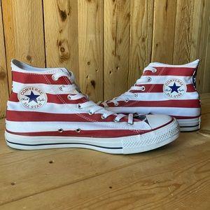 Converse Shoes - American Flag High Top Converse
